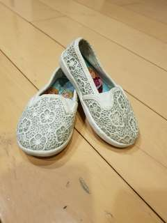 Frozen White Lace Shoes under 4Y