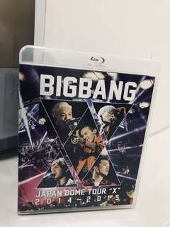 "Big Bang - japan dome tour ""X"" 2014-2015 blue ray dvd"
