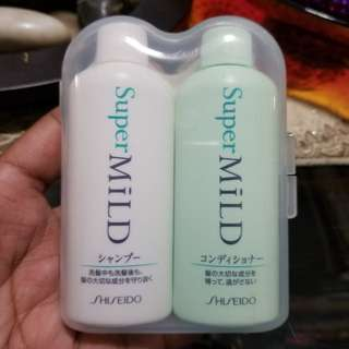 Shiseido Super Mild Shampoo and Conditioner 50ml travel pack