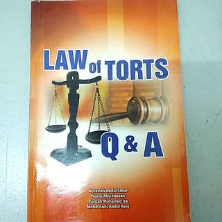 Law of Torts Q&A