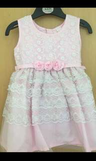 Pink party dress/ first birthday
