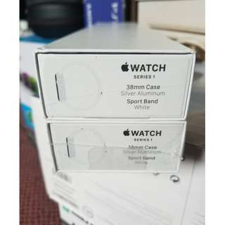 Apple Watch Series 1 38mm Aluminium Sport Smartwatch - White