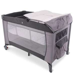 TEX BABY FRANCE - Portable Baby Travel Cot Bed & Foldable Playpen + IKEA mattress