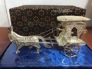 🚚 印尼純銀馬車飾品 Silver Delman