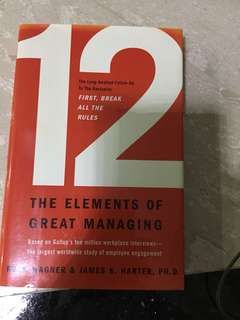The elements of great managing
