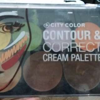 City color ori. Contour & correct cream palette