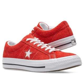 Converse one star 長麂皮 紅