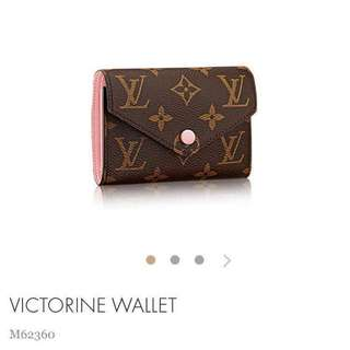 Louis Vuitton Victorine Wallet in Rose Ballerine M62360 LV 短銀包