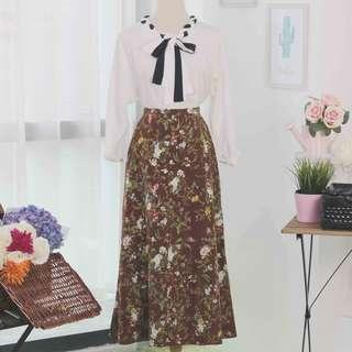 🍿 Vintage Midi Skirt VS1074