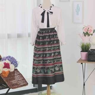🍿 Vintage Midi Skirt VS1075