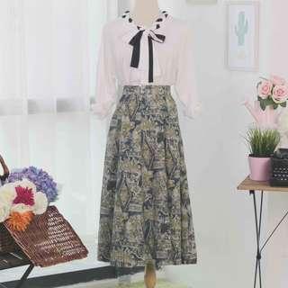 🍿 Vintage Midi Skirt VS1077