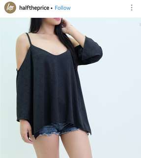 HTP black cutout top