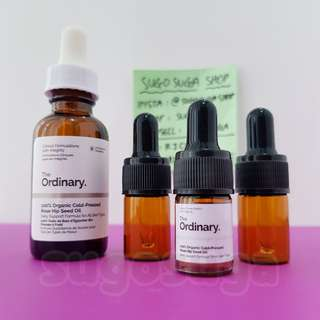 THE ORDINARY 100% Organic Cold-Pressed Rose Hip Seed Oil (share 5ml)