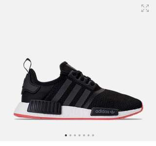 Adidas NMD R1 Core Black Carbon Trace Scarlet