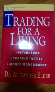 Trading For Living by Dr Alexander Elder