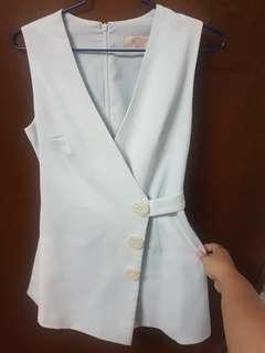 Vintage Romper Dress w/ pockets
