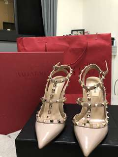🚚 Valention 裸色高跟鞋