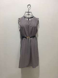 ♥️Office Checkered Dress 136