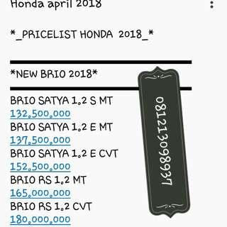 Honda new Brio Dp 10juta