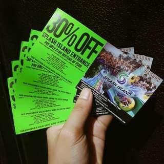 Rush! 10pcs. Splash Island tickets