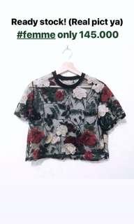 Femme rose top