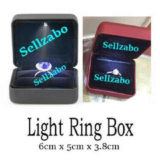 0B Special Dark Red Black Colour Base Bulb Shiny Rings Box Case Cases Sellzabo Accessory Accessories Vows Engage Engagement Led Light Exchange Exchanging