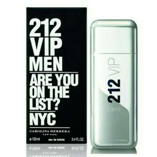 Carolina Herrera 212 VIP MEN 男性淡香水/1瓶/100ml-公司正貨