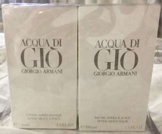 Acqua Di Gio After for MEN Shave Lotion and After Shave Balm