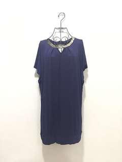 ♥️Navy Blue Dress 142