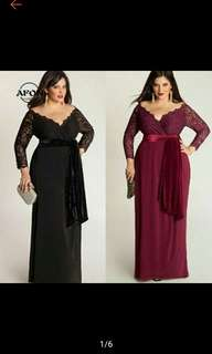AFON Lace Evening Long Maxi Dress