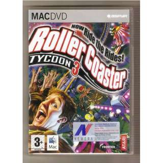Rollercoaster Tycoon 3 & Soaked Expansion Mac (Apple) Game