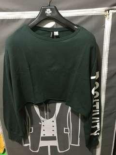 H&M sweatshirt crop top