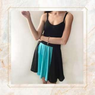 Black and Blue Skater Skirt