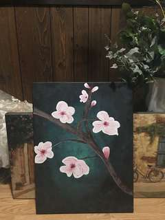 Cherry Blossom Oil Canvas