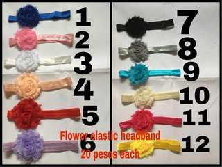 Flower elastic headband for babies and kids