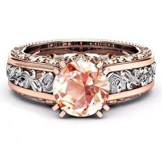Champagne Topaz Floral Ring