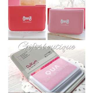 MOVING HOUSE SALE $4MAILED -  KOREA PINK/SHOCKING PINK RIBBON CARD HOLDER POUCH