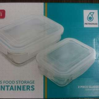 Petronas Glass Containers- 2 pcs