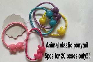 Elastic ponytail 5pcsfor 20 pesos