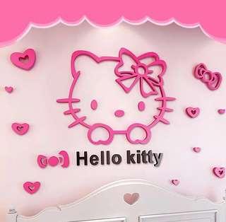 3D acrylic wallpaper DIY hello kitty
