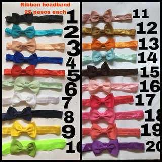 Elastic ribbon headband for babies and kids