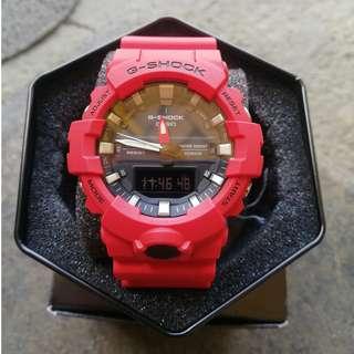 Casio G-Shock Ana Digi Red Resin Strap GA-800-4A