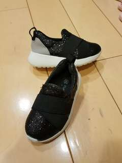 Unique Black Glittery Sneakers