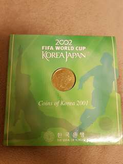 2001 Fifa World Cup Japan. Coins of Korea