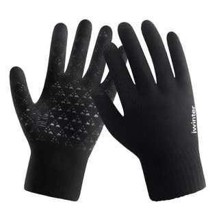 (八成新)童裝黑色手套