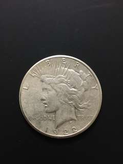 1922-S Peace Dollar XF (Silver Coin; US$1)