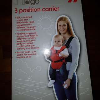 Mothercare 3 Position carrier (red colour)