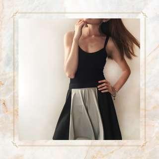Black and Gray Skater Skirt