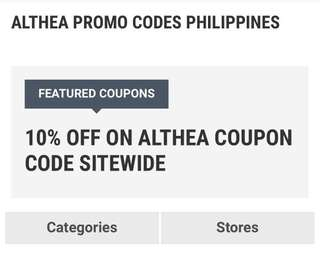 Althea Coupon code