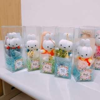 乾燥花 米菲兔 法國兔 情人節禮物 現貨 娃娃機 批發 貨到付款 免運